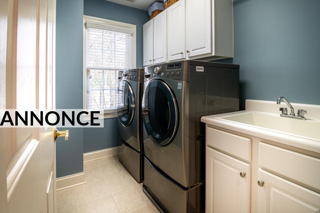 Tvättmaskinen står i centrum